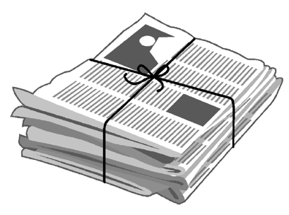 newpaper clip art